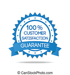 Blue Customer Satisfaction Badge