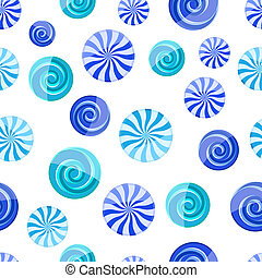 blue cyan striped candy seamless pattern