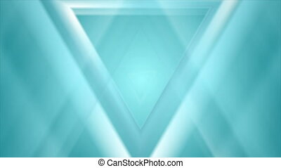 Blue cyan triangles abstract tech futuristic motion background