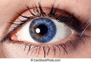blue cyber eye