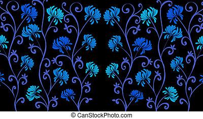 blue daisy flower pattern