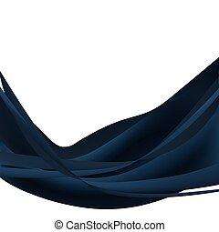 Blue dark abstract wave
