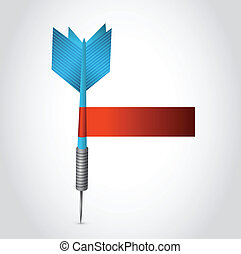blue dart and red blank sign illustration