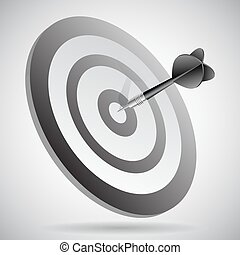 Blue Dart on Red Target Close-up vector - Blue Dart on Red...