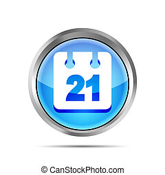 blue date icon on a white background