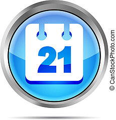 blue date icon on white background