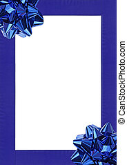 Blue decoration - Blue Gift wrapping bow and ribbon isolated...