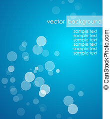 Blue deep background - Vector illustration for your design