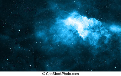 Blue deep space background