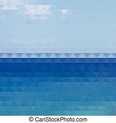 Blue defocused background
