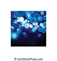 Blue vector defocused light.