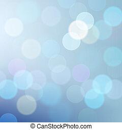 Blue defocused lights background, vector Eps10 illustration.