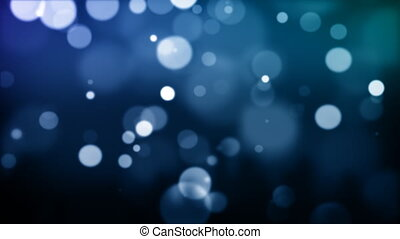 Blue defocused Particles HD030