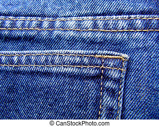 Blue denim - Detail of blue jeans man\\\'s pants