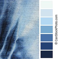 Blue denim jeans  color complimentary chart