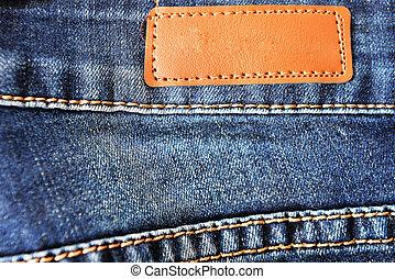 Blue denim texture with seam