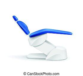 Blue dental chair - Vector blue dental chair side view...