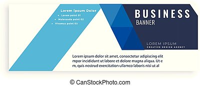 Blue Design Abstract Business Banner Vector Image