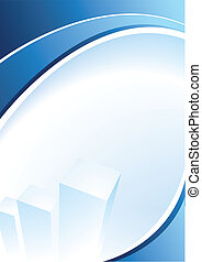 Blue Design - Blue corporate design for text
