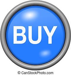Blue design buy in round 3D button