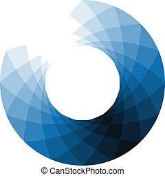 Blue design element