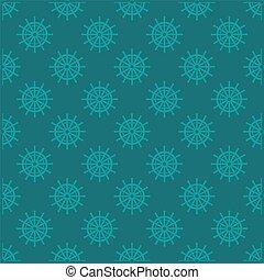 Blue design sea steering wheel pattern vector eps 10