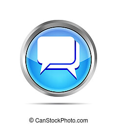 blue dialog icon on a white background
