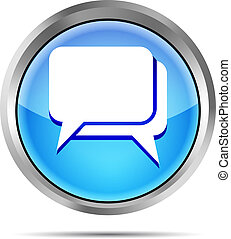 blue dialog icon on a white