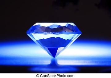 Blue Diamond - A diamond in blue background with nimbus.