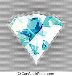 blue diamond background with blue seamless texture