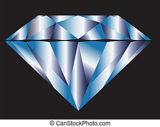 Blue Diamond - Diamond anatomy pattern in standard cut for...
