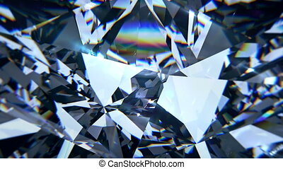 Blue diamond dispersion footage. Fancy color diamond crystal...