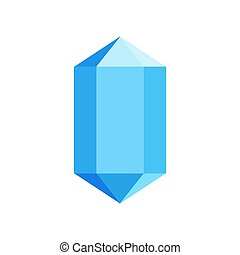 Blue diamond icon, flat style.