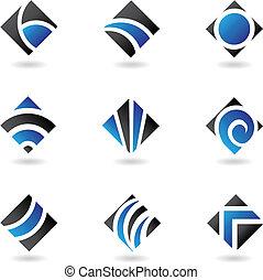 blue diamond icons