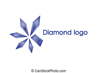 Blue diamond logo design of illustration - 5 diamonds...