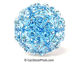 diamond - blue diamond on white background