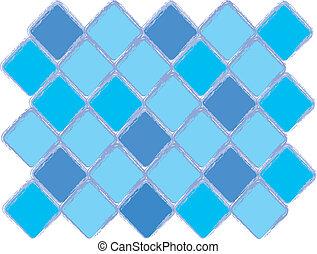 Blue diamond pattern