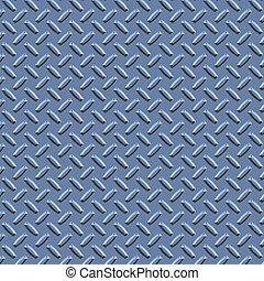 a large seamless sheet of blue steel diamond or tread plate