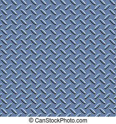blue diamond plate metal - a large seamless sheet of blue...