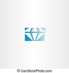 blue diamond vector logo icon sign