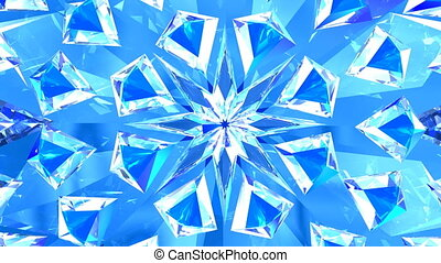 Blue diamonds background