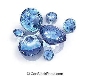 Blue Diamonds on white background