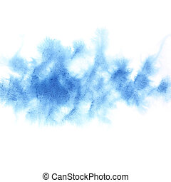 Blue diffused watercolor stain