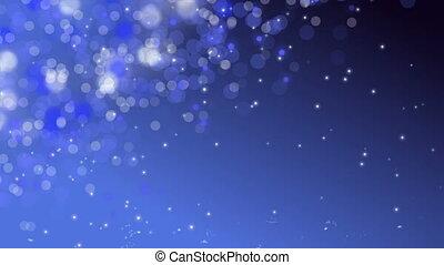 Blue Digital Bokeh Background.