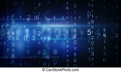 blue digital data arrows loop background