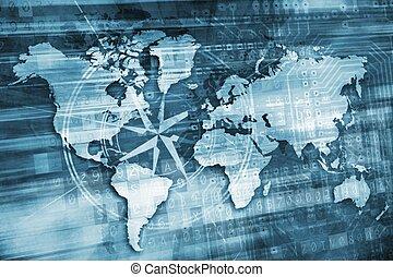 Blue Digital World Concept