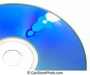 blue disc - closeup of a blue optical disc