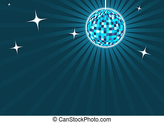 Blue discoball background