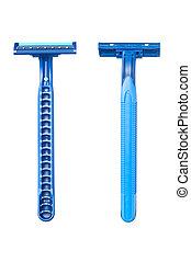 Blue disposable razor blade - New disposable razor blad ...