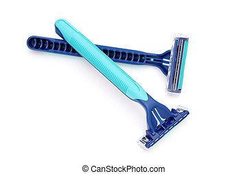 blue disposable shaving razor